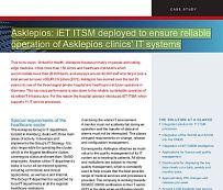 Asklepios: iET ITSM deployed to ensure reliable